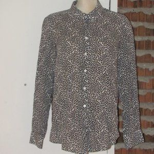 Foxcroft Button Up Blouse Top Size 16 Hearts